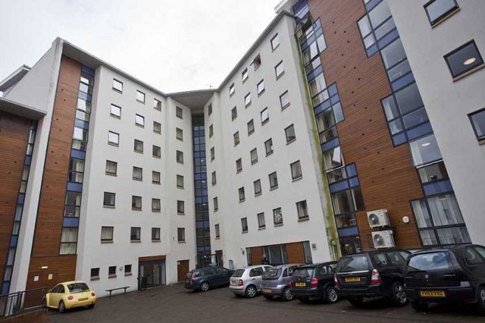 Outside The Hub Student Accommodation Dundee