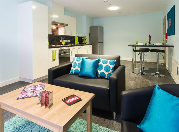 Darley Bank Student Accommodation Derby Lounge and Kitchen