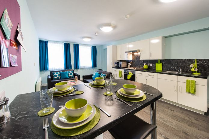 Neuadd Kyffin Student Accommodation Bangor Shared Kitchen