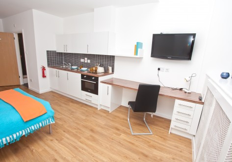 Mansion Waterside Student Accommodation London Studio desk